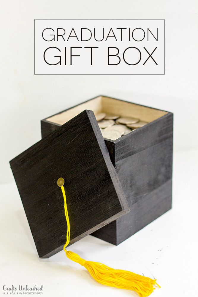 Diy Graduation Gift Box Tutorial Crafts Unleashed Bloggers Best