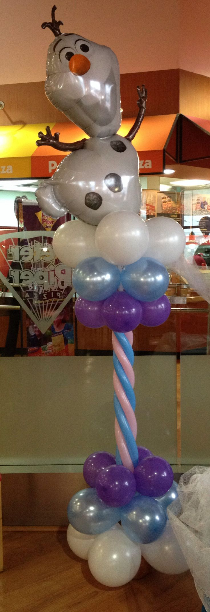 Frozen Pillar Mylar Balloon