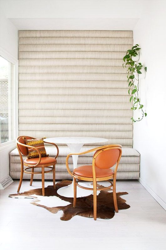 Diy Channel Tufted Banquette Via A Beautiful Mess. / Sfgirlbybay