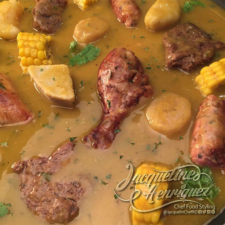 #Sancocho con Bollitos de #Plátanos #Receta #Dominicana #Carne #Caldo #BuenProvecho #Food