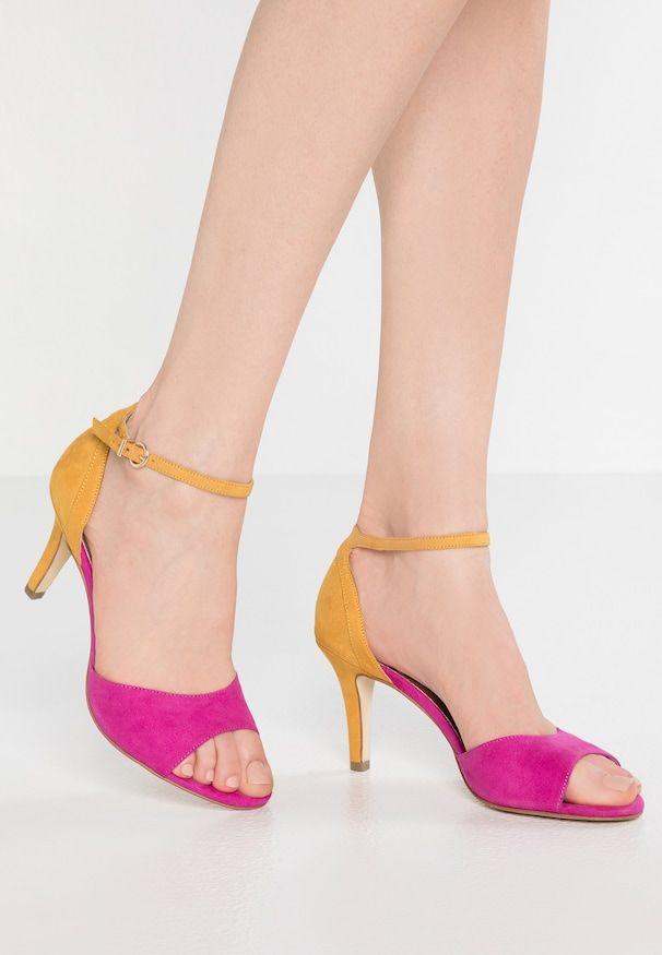 Sandaly Fuxia Saffron Heels Kitten Heels Shoes