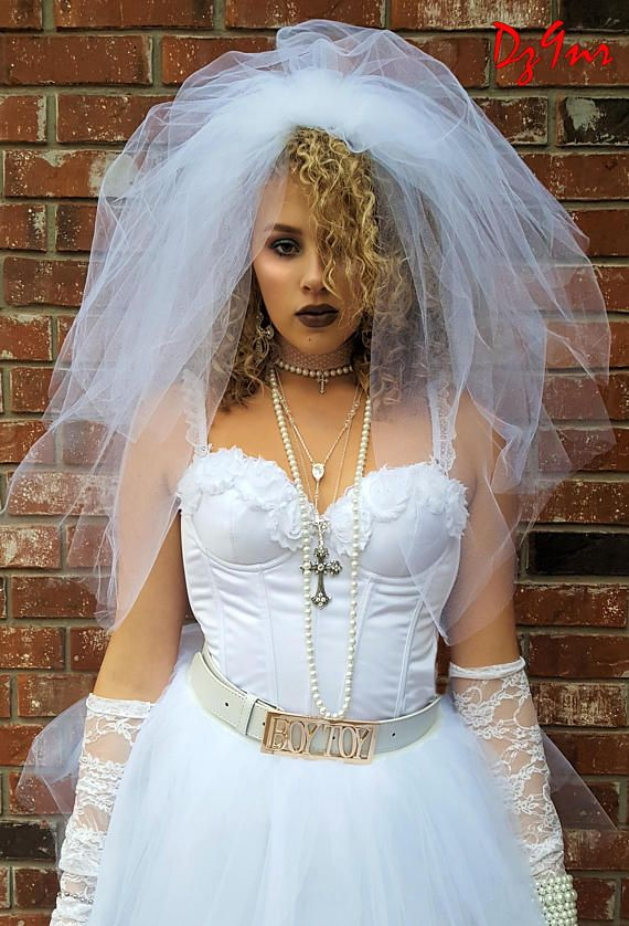 0e82f13ff4de7 Madonna 80's Veil, High Quality Madonna Like Virgin Bride Veil w ...