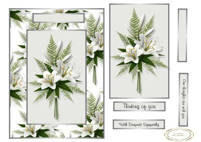lilies for sorrow on Craftsuprint designed by Heather Howes - a sympathy card…