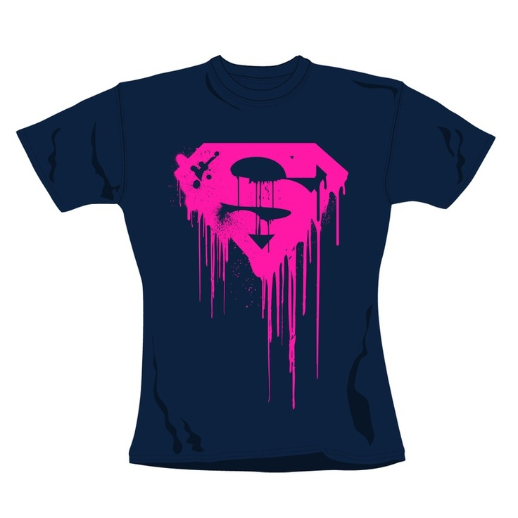 100% cotton, Women's crew neck t-shirt http://www.badsheepboutique.com/superman-dripping-logo-t-shirt-220-p.asp