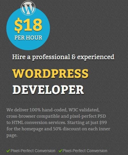 Hire wordpress theme developer MarkupHQ is a name that has always been synonymous with successful on-time WordPress project delivery. Check out more detail here: http://goo.gl/DxCxyV
