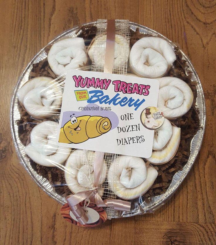 Baby Diaper Cake Cinnamon Buns   eBay