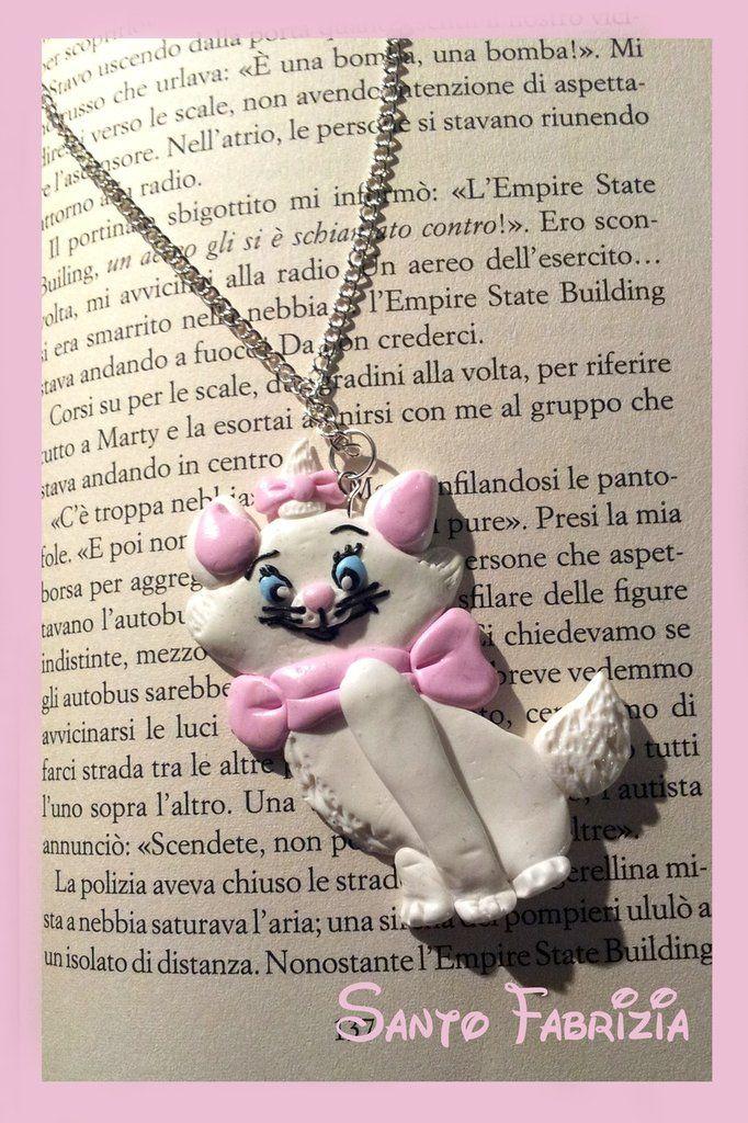 Collana Disney Gattina Aristogatti fimo, by fabry.world.fimo, 12,00 € su #misshobby.com