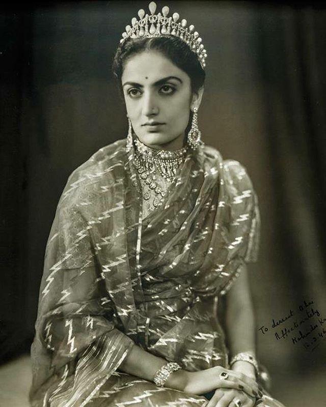 Maharani Mehtab Kaur, née Mohinder Kaur of Patiala, c.1946 #MadeForMaharajas