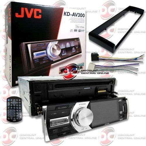 """JVC KD-AV300 Car Single-Din 1DIN 3 """" LCD DVD CD Player with Front USB Input & Aux-in + Remote"""