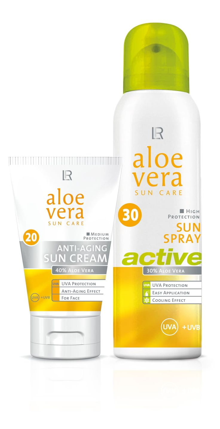 LR Aloe Vera Sun Care Packaging Design Kosmetik