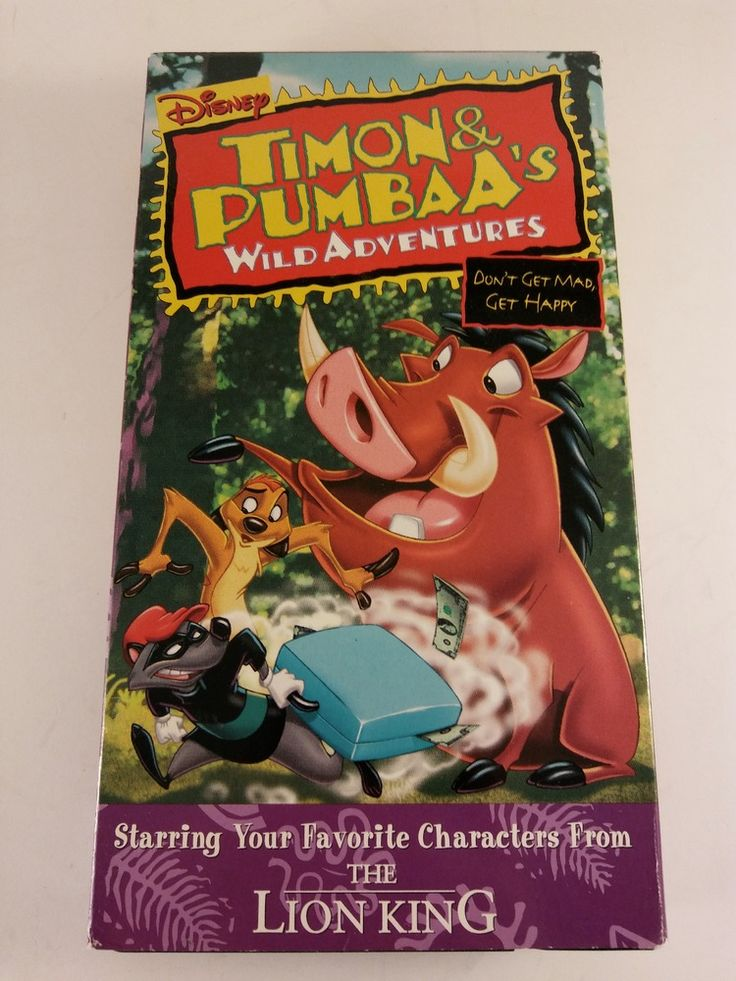 Timon and Pumbaa's Wild Adventures - Don't Get Mad, Get Happy  VHS The Lion King