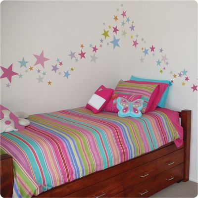 Stars Wall Stickers for the room.  (58 Stars to a pack)