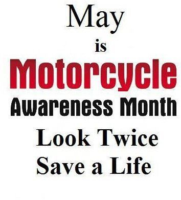 May Is Motorcycle Awareness Month!