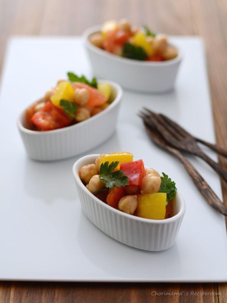 ひよこ豆とパプリカのデリサラダ by 西山京子/ちょりママ | レシピサイト「Nadia | ナディア」プロの料理を無料で検索
