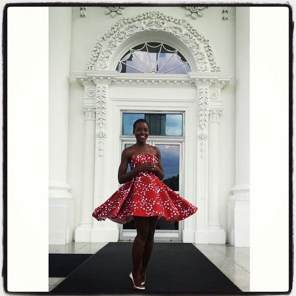 lupita at the white house.