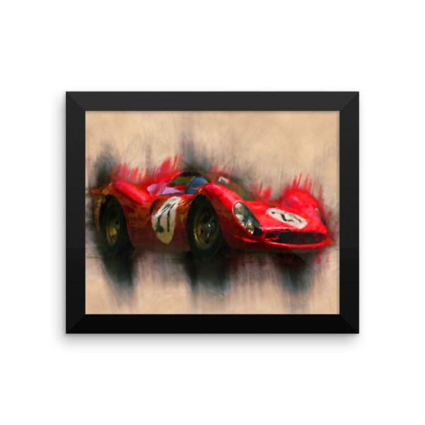 1967 Ferrari 330 P4 (Gran Turismo 5) | Framed poster //Price: $23.32 & FREE Shipping //     #classicracing