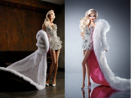 Fashon icon Barbie looks like a fabulous drag queen as the Blond Diamond Barbie Doll!