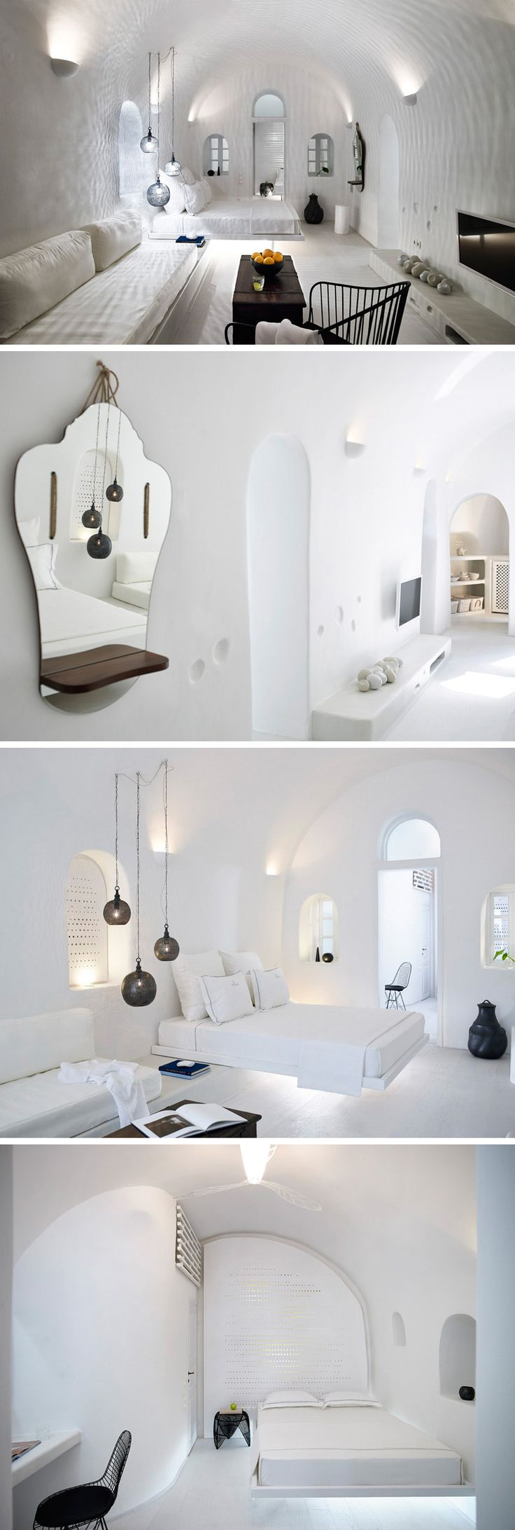 """PATSIOS Architecture Design The """"Cave Suite"""" In The Mountains Of Santorini"""