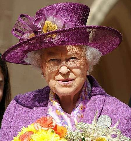 Even the queen likes purple!