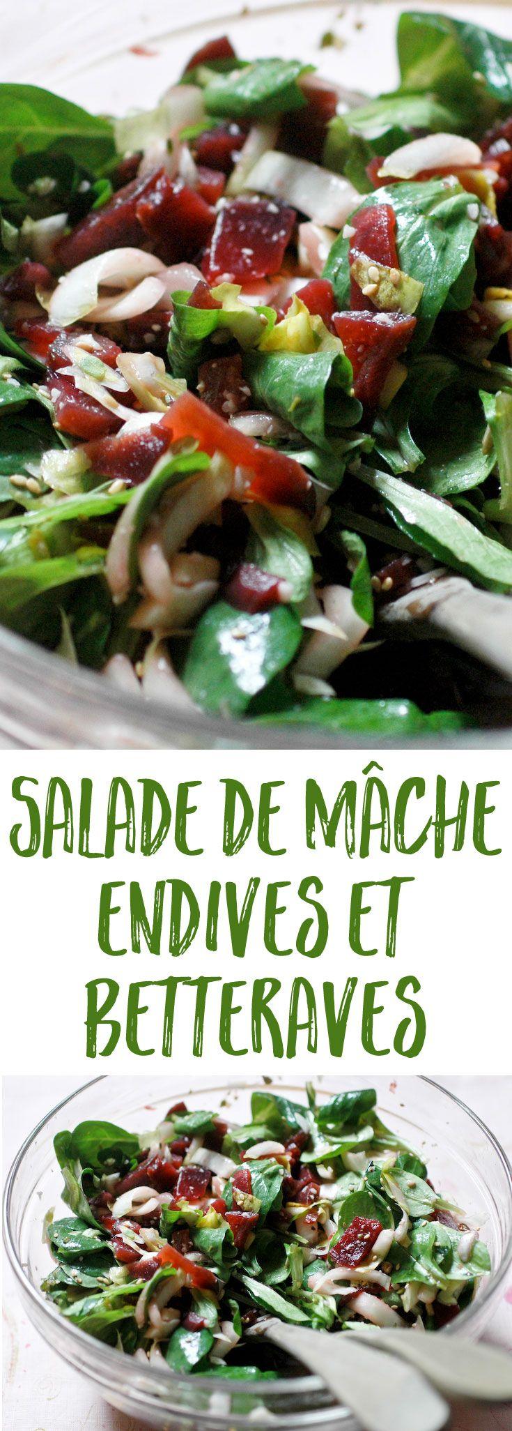 Une salade de retour de marché de fin d'hiver, joliment équilibrée : la douceur des betteraves répond à l'amertume délicate …