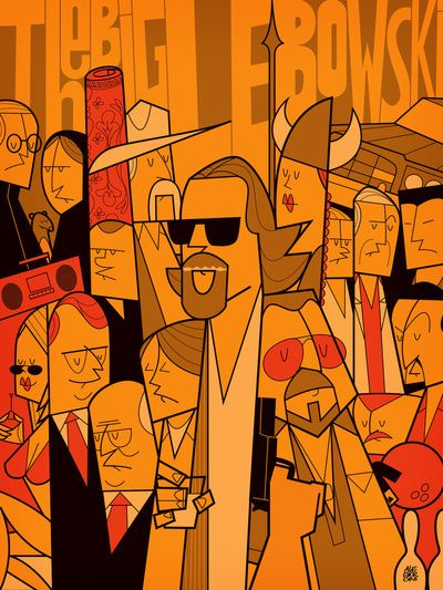Awesome condensed and tightly-kerned illustration style by Ale Giorgini for this series of movie posters.