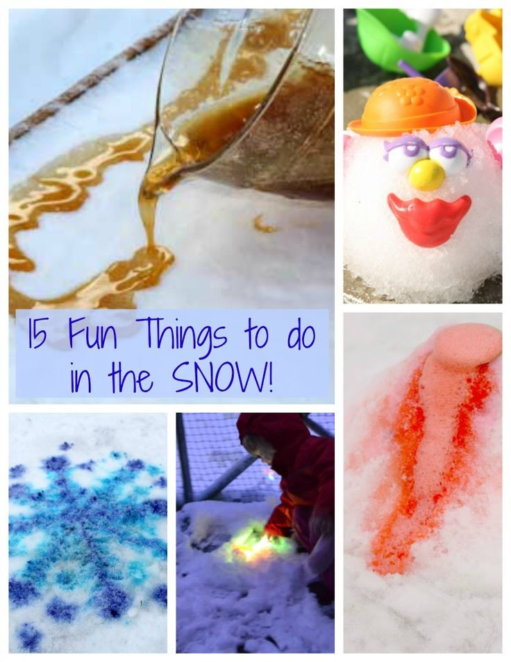 fun tings to do in the snow outside