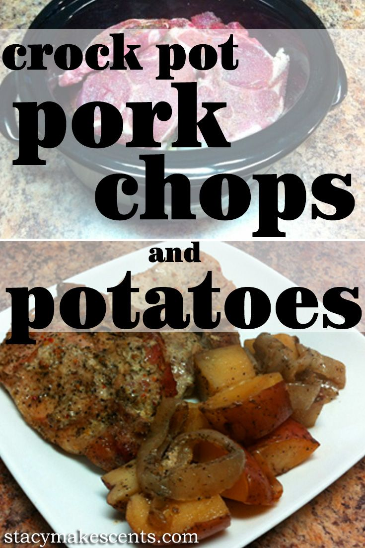 Crock Pot Pork Chops and Potatoes from Get Crocking