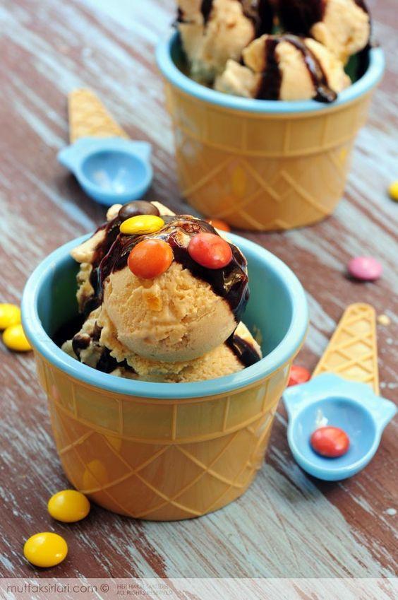 Ev Yapımı Kayısılı&Şeftalili Dondurma