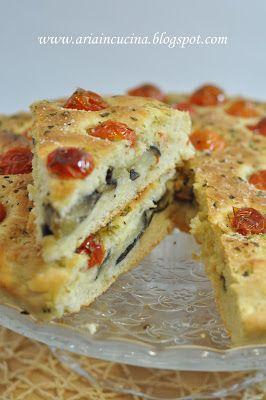 Blog di cucina di Aria: La mia Focaccia e....melanzane al forno!