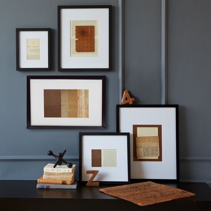 gallery frames black west elm 14x17 or 16x20 matted to 8x10