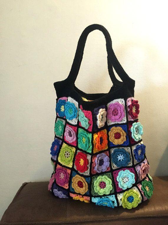 Crochet bag crochet handmade bag handmade por GiliCrochetDesign