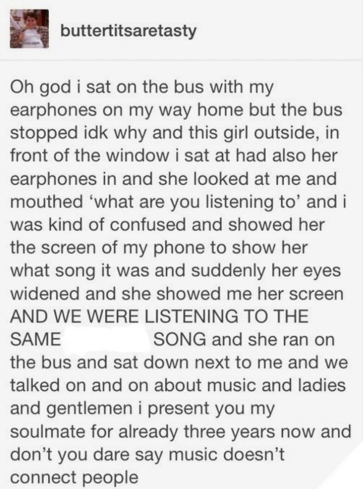 Don't deny it: music can conect people and this story proves it