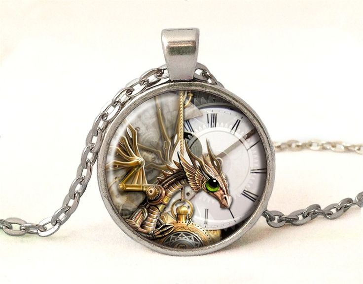 Steampunk dragon necklace, 0576POS from EgginEgg by DaWanda.com