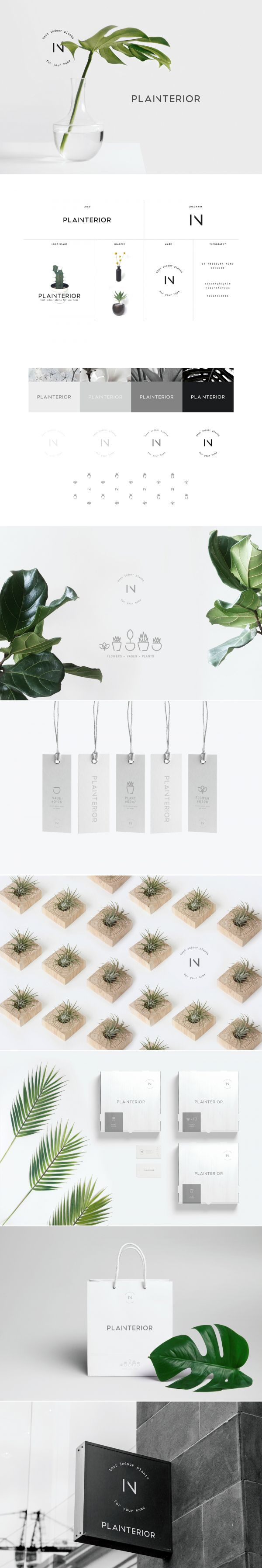 Branding, Identity and Packaging Design for Planterior, a Korean shop that sells…