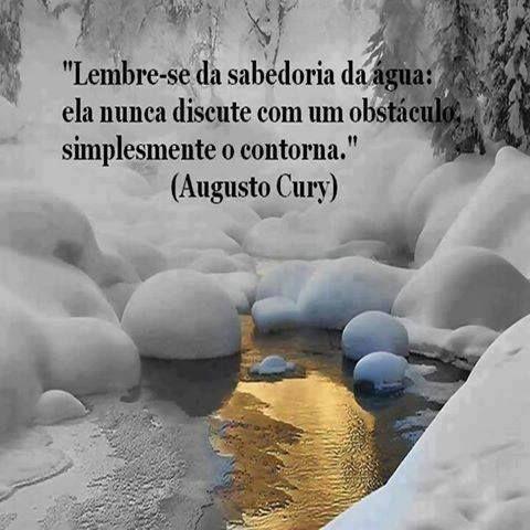 Lembre-se da sabedoria da água: ela nunca discute com um obstáculo, simplesmente o contorna.