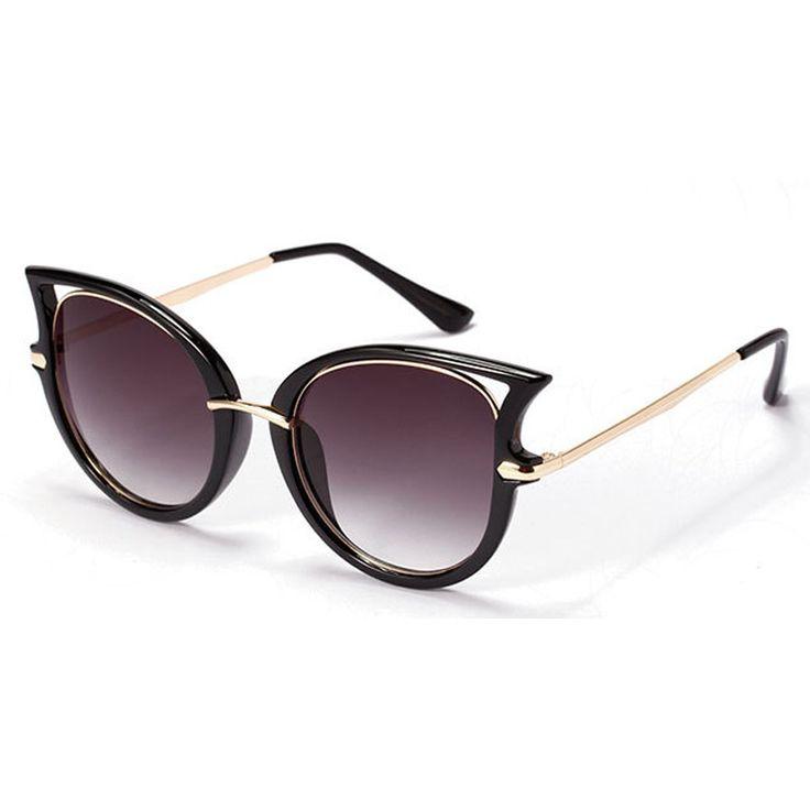 Мода Ретро Металлический Каркас Sexy Cat Eye Солнцезащитные Очки для Женщин Бренда Покрытие vintage солнцезащитные очки женский óculos de грау femininos купить на AliExpress