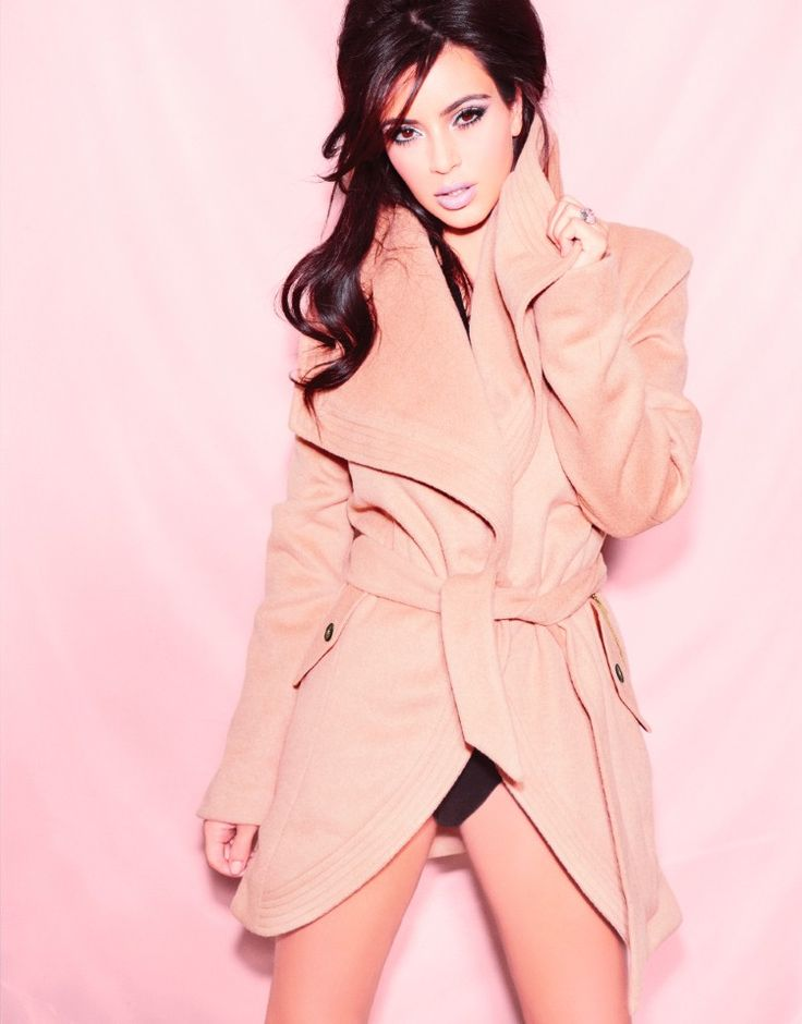 Kardashian Kollection at Lipsy Winter 2014. Stay glam this season in this camel wool blend wrap coat. Complete the look with a pair of high heeled boots and a great dress.
