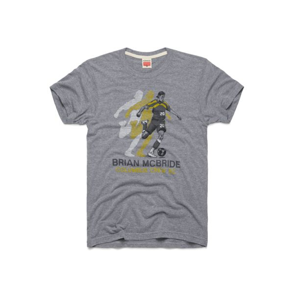 Rep the one and only number 20 with our super-soft Brian McBride tee that pays homage to one of the Columbus Crew's finest. Throughout his eight years with the