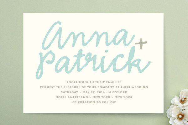 new design! You + Me, wedding invitation - The Social Type