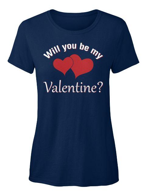 Cute Valentines Day   Women's T Shirt Navy Women's T-Shirt Front