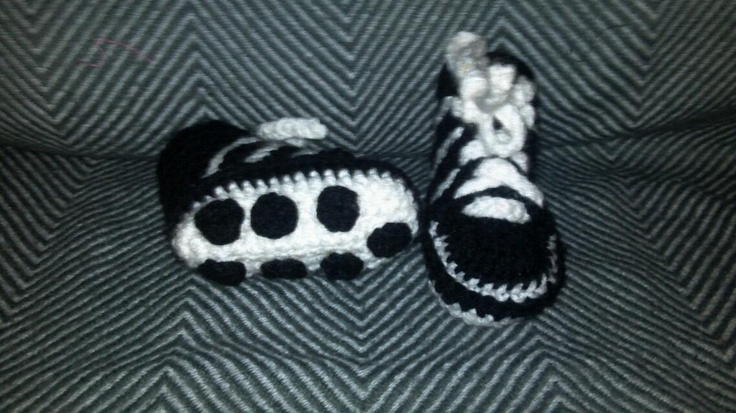 Soccer booties...pattern courtesy if youtube user crochet geek...made as a request from a family member.