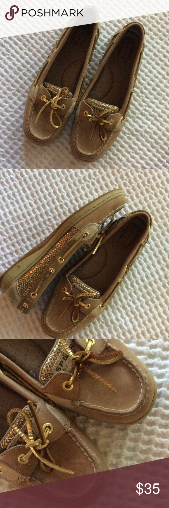 Sperry Top Sider shoes Golden glitter, no spots, super clean. Sperry Top-Sider Shoes Moccasins