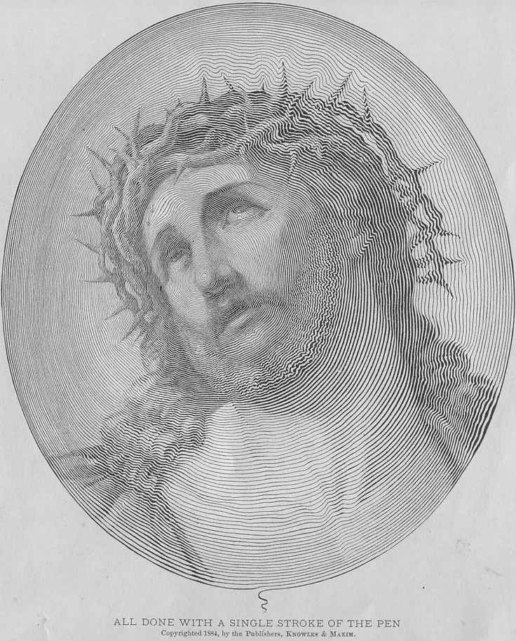 One stroke of the penInk Drawing, Pens Strokes, Jesus Christ, One Strokes, Pictures Wa, Drawing Jesus, Single Strokes, Pencil Drawing, Line Drawing