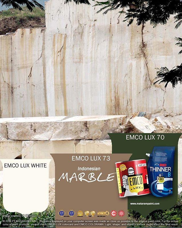 Marmer Indonesia  Produk lokal identik dengan kualitas yang di bawah produk impor. Tidak begitu dengan marmer. Batu alam Indonesia, yang banyak dipakai sebagai lantai rumah atau permukaan meja, juga bisa bersaing dengan produk impor. Marmer Ujung Pandang, contohnya, sudah sering diekspor karena kerapatan materi dan polanya yang unik. Selain itu, marmer juga dikenal sanggup membuat ruangan sejuk dan memiliki nilai ekonomi tinggi.  Gunakan warna marmer khas Indonesia EMCO LUX 73 dan 70 EMCO…