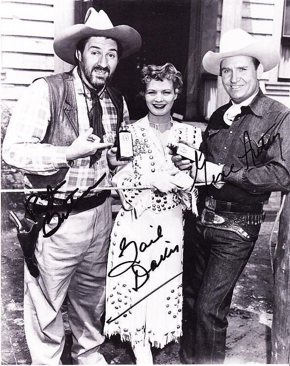 Pat Buttram, Gail Davis & Gene Autry 8x10 Black & White Photo Lithograph…