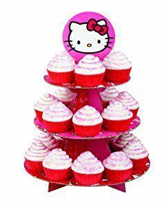 Hello Kitty Cupcake Stand. Wilton Hello Kitty Paper Cupcake Stand, Holds 24 Cupcakes.  #hello #kitty #cupcake #stand #hellokitty #kittycupcake #cupcakestand