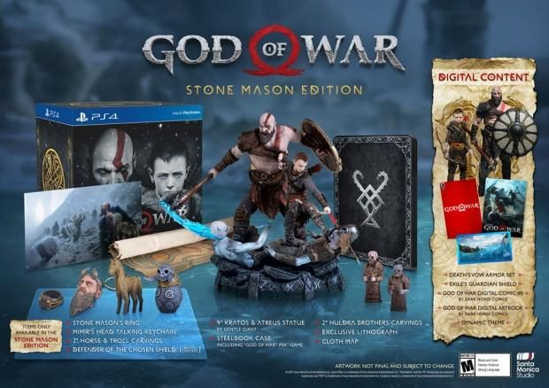 God Of War Stone Mason Edition Unveiled God Of War God Of Wars Playstation 4
