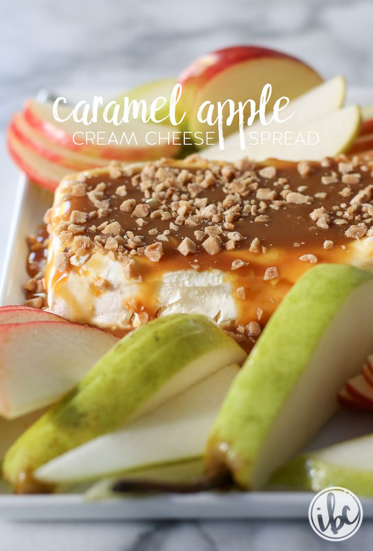 Caramel Apple Cream Cheese Spread   inspiredbycharm.com