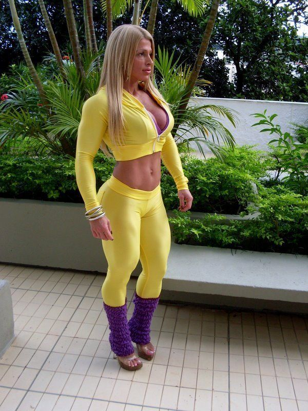 Skin Tight Clothing  Female Muscle  Hot  Muscular -7624