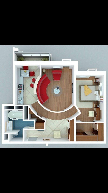 Pin By Jahiska Amalia On Home One Bedroom House One